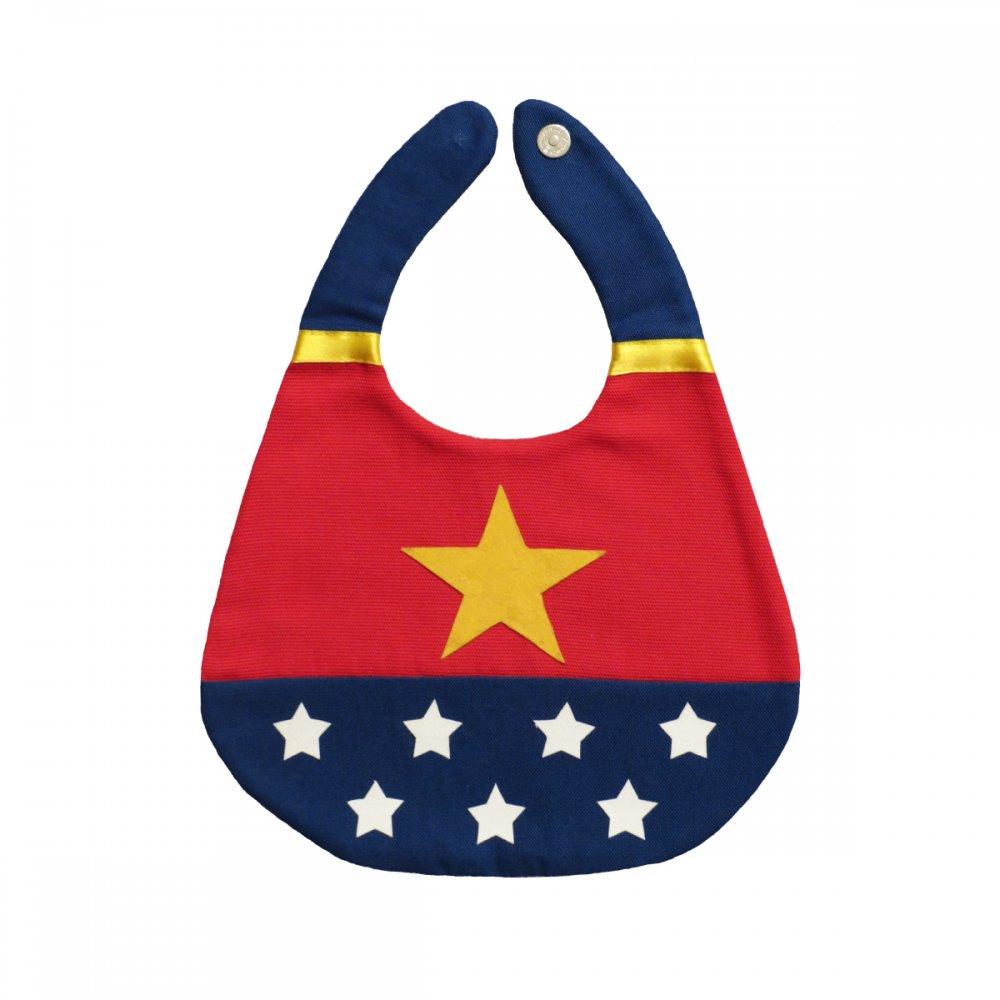 Bavaglino Baby Bib Wonder Woman Collezione Supereroi Superheroes