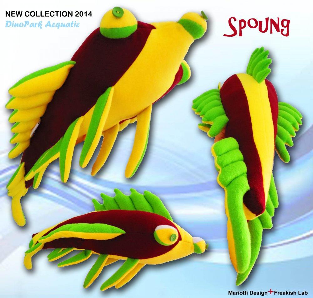 Peluches/Cuscino  DinoPark dinosauro marino pezzo unico in pile