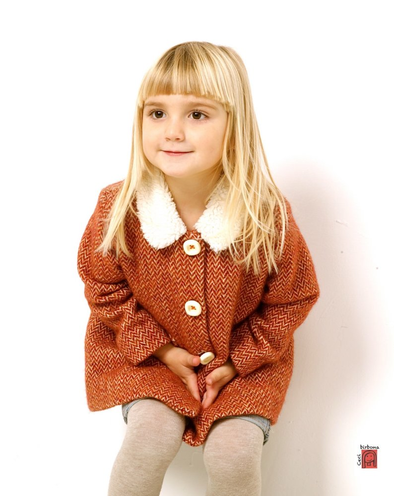 online retailer 28468 468fb Cappotto bambina - cappotto spigato - giacca bimba