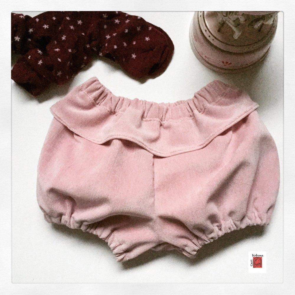 Pantaloni bebè - bloomers bambina - coulotte - pantaloni a sbuffo