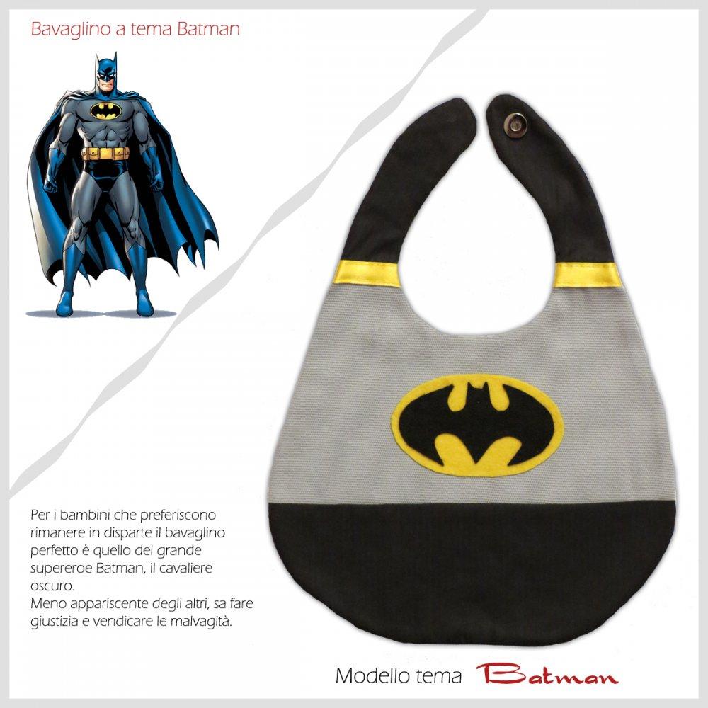 Bavaglino Baby Bib Batman Collezione Supereroi Superheroes