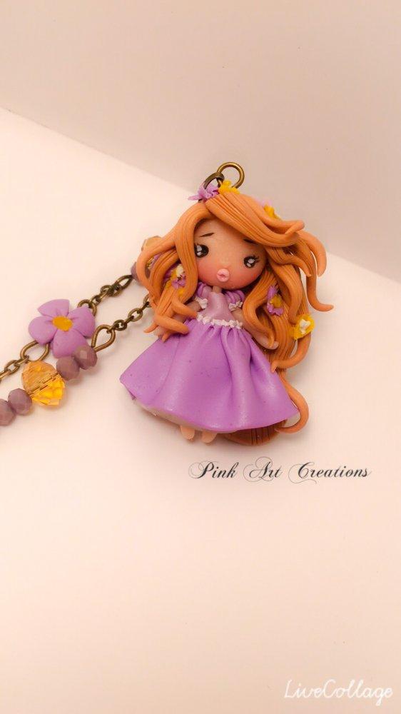 Collana ciondolo Rapunzel