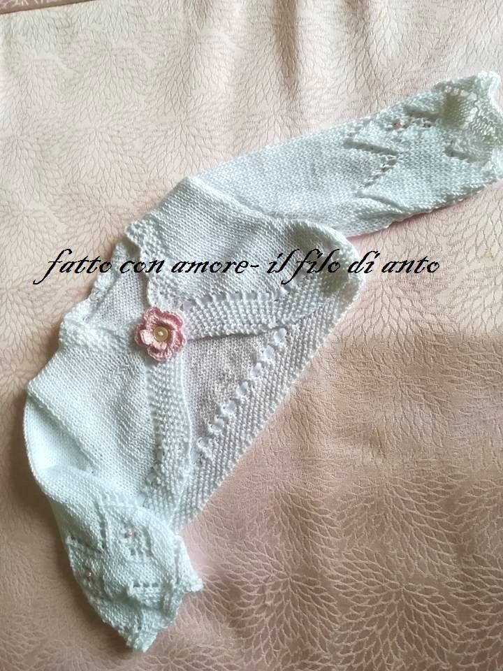 Coprispalle /bolerino /maglia / cardigan  bambina con fiore