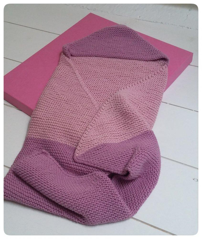 Copertina bimba con cappuccio misto cotone e lana
