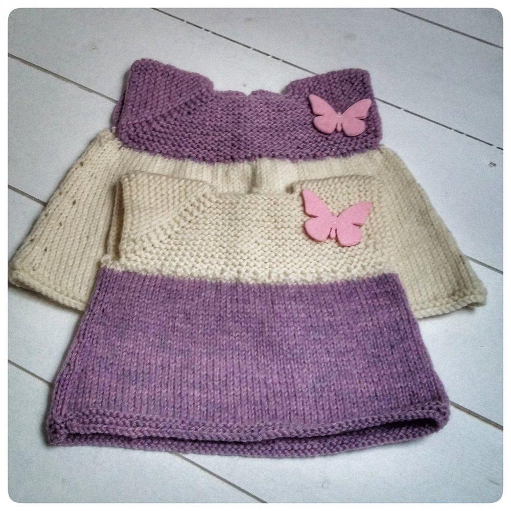 vestito bimba lana 3-9 mesi