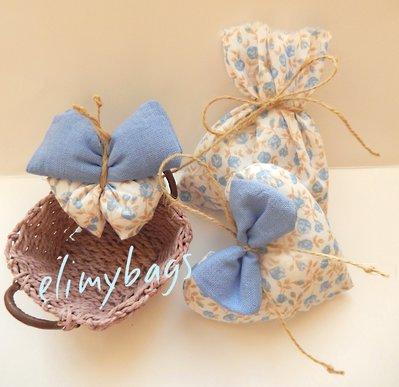 3 Profumatori azzurri per cameretta alla lavanda  a forma di cuore, farfalla e sacchetto