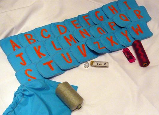 Lettere chiacchierine bluette-arancione