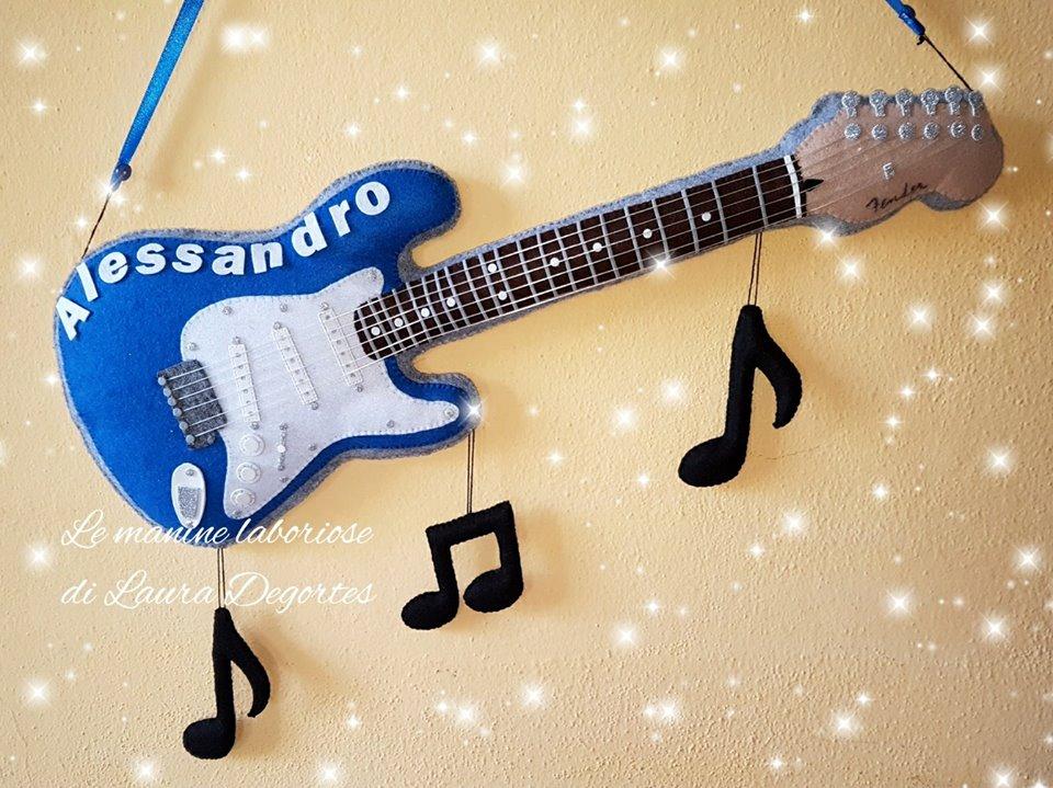 Fiocco nascita chitarra Stratocaster