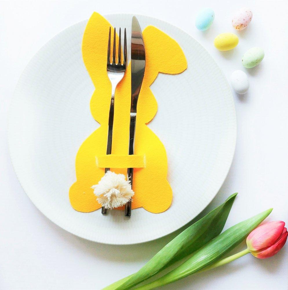 Set 6 Portaposate Coniglietto Pasqua