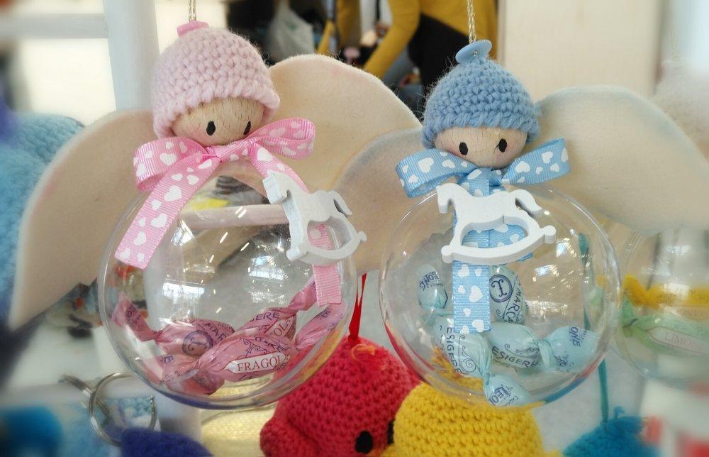 Angioletto-sfera portaconfetti