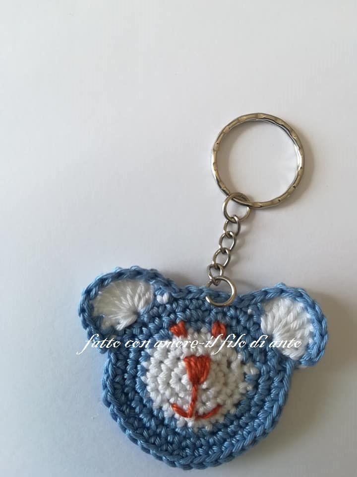 Portachiavi orsetto blu