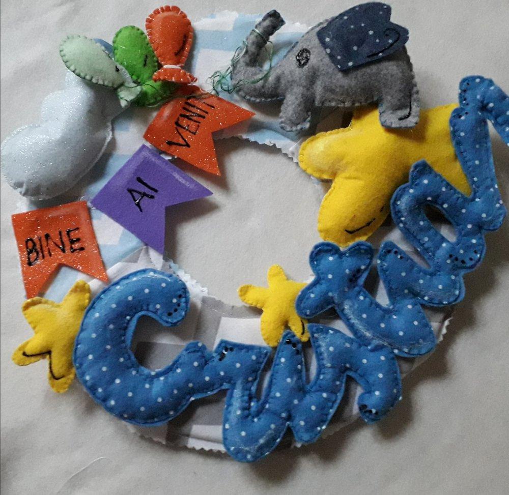 Fiocco nascita personalizzato a elefante